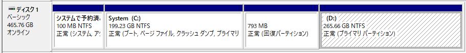 システムドライブ(Cドライブ)