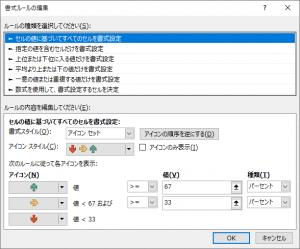 3つの矢印(色分け)