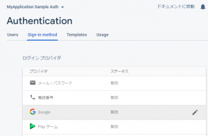 Sign-in methodタブ