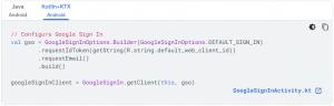 Configure Google Sign In
